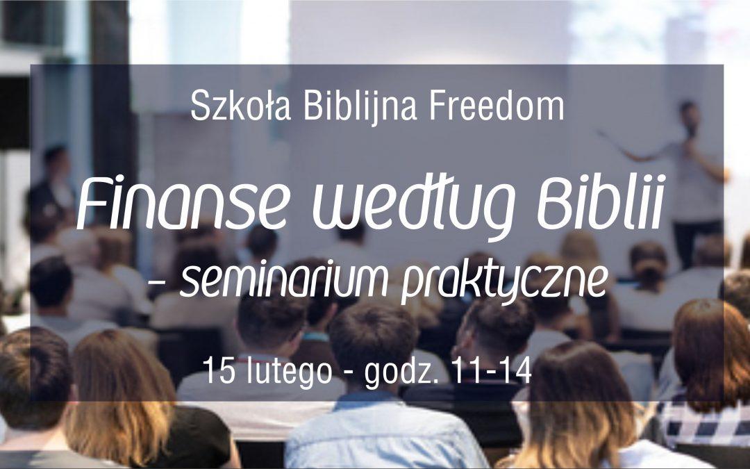 Szkoła Biblijna Freedom – Finanse w Biblii